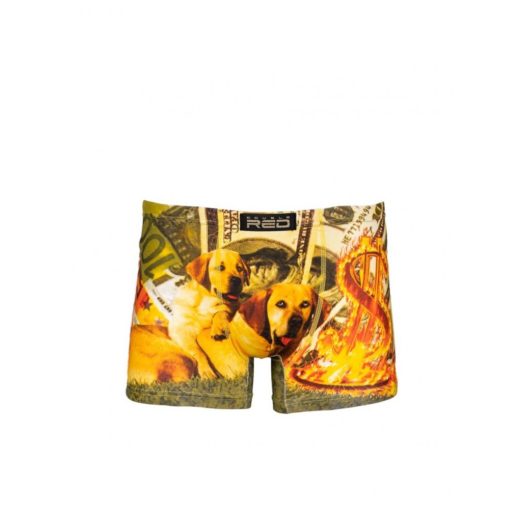 DOUBLE RED  2FUN Boxers Rich Hot Dogs Green
