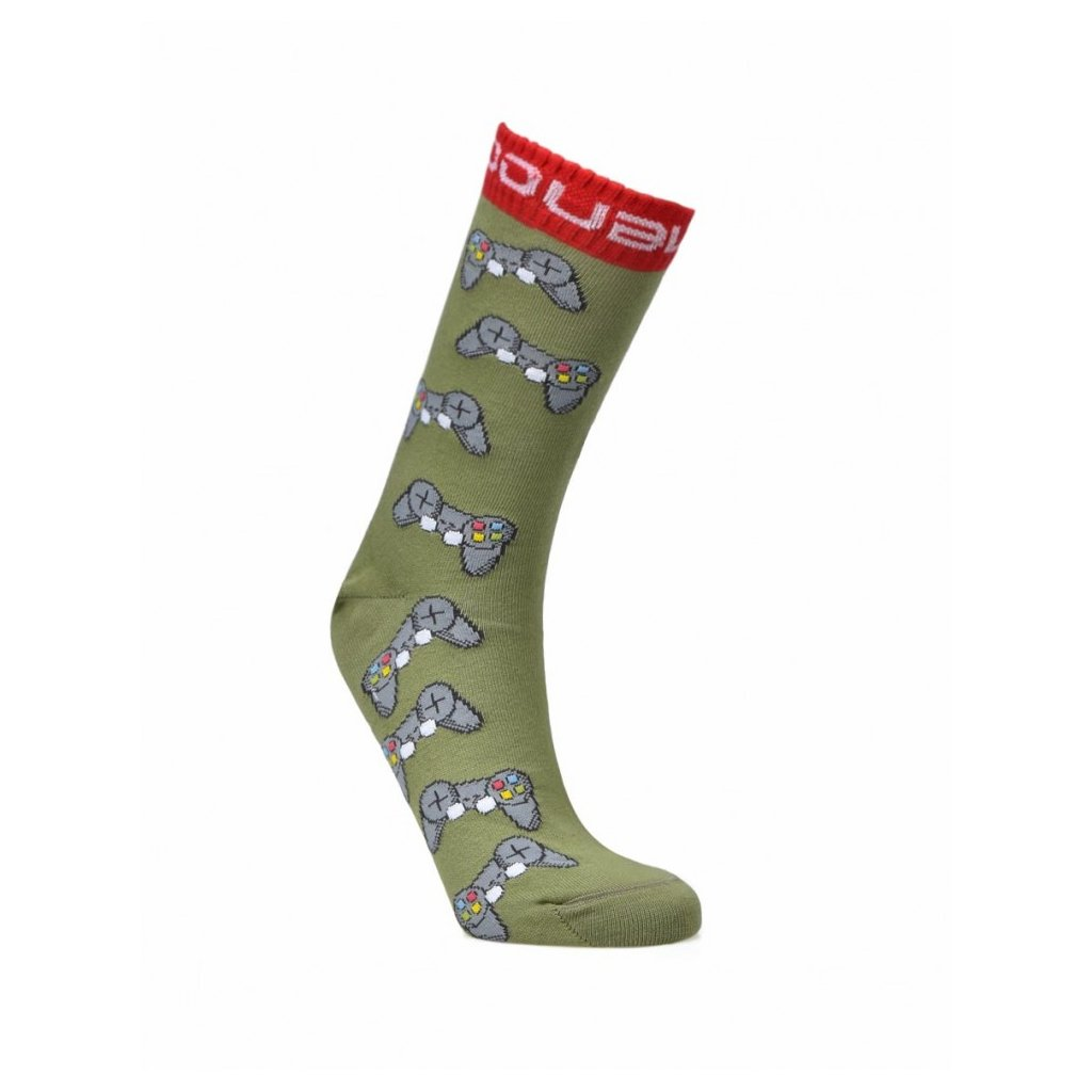 DOUBLE RED  Ponožky DOUBLE FUN SOCKS IM NOT GAMER