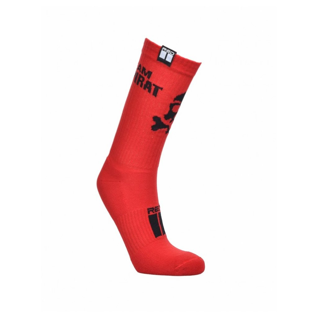 DOUBLE RED  PIRAT Socks EDITION Red