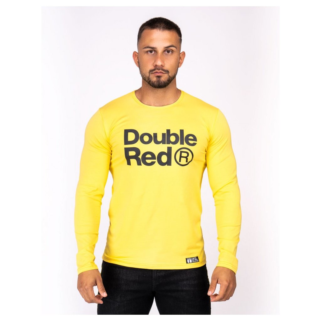 Tričko  DOUBLE RED  Red Neon Long Sleeve T-Shirt Yellow