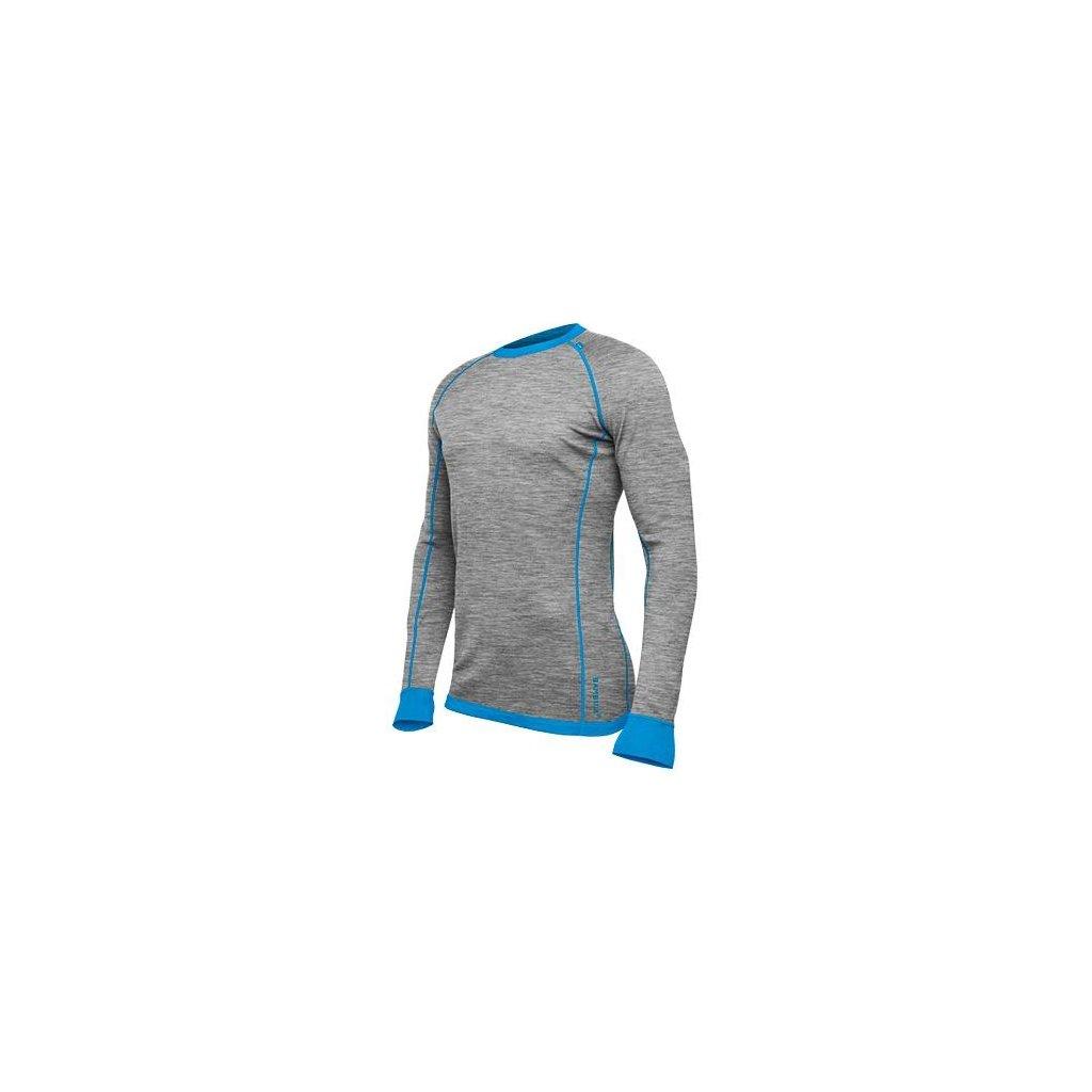 Pánske Bambull tričko Grey Melange/Methyl Blue