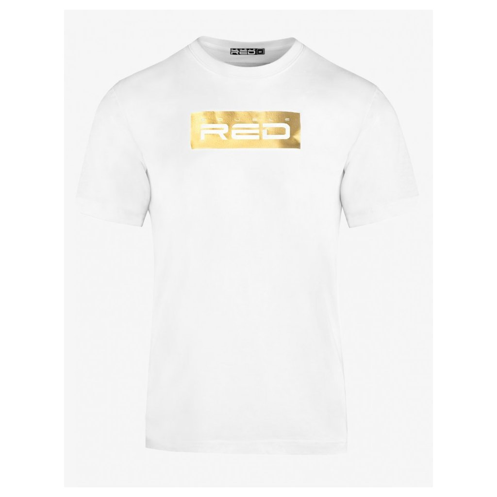 Tričko  DOUBLE RED  T-shirt GOLD Edition White