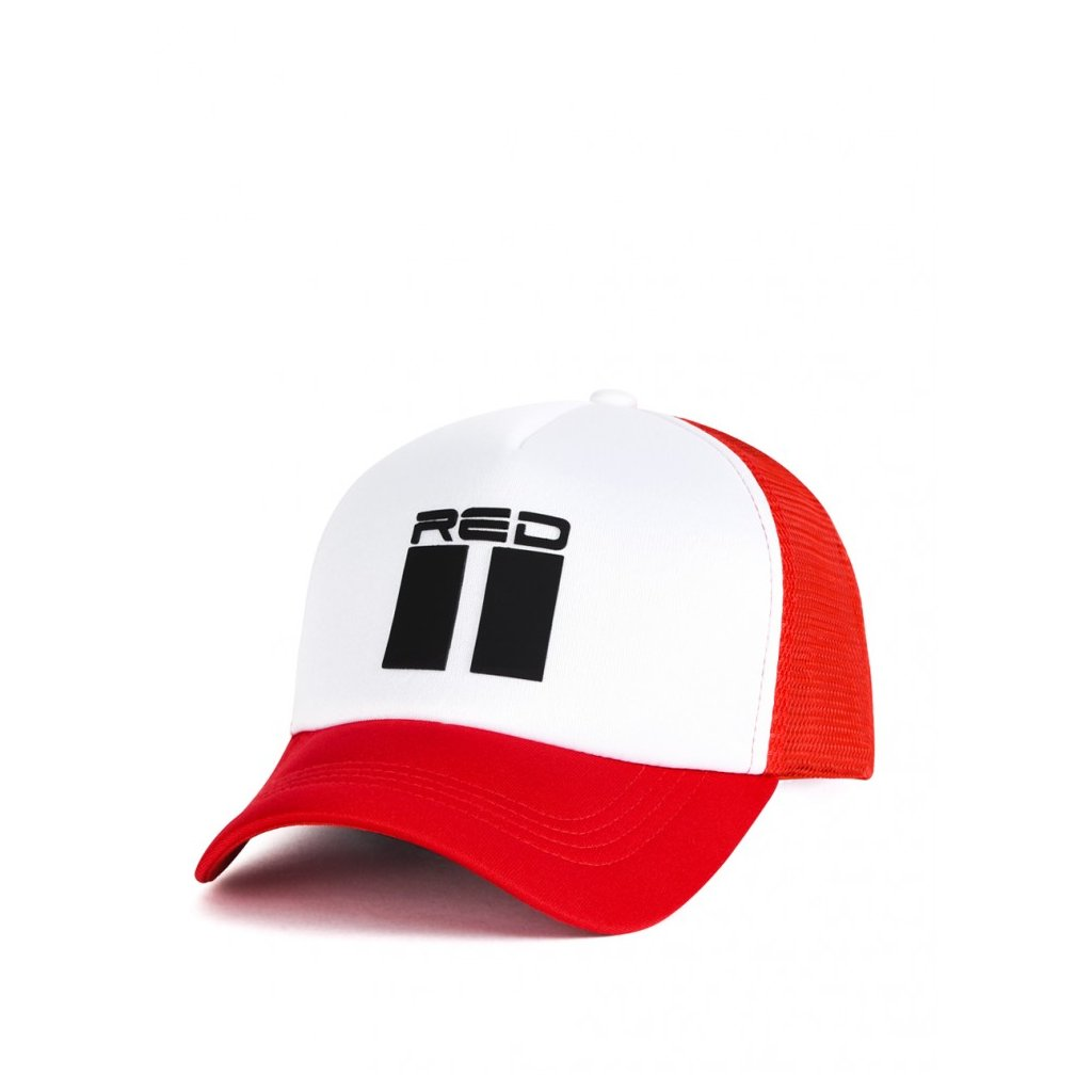 Šiltovka  DOUBLE RED 3D RED/WHITE Trucker Cap