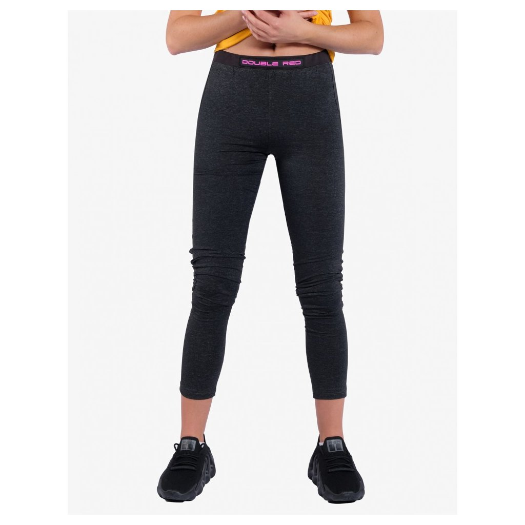 Legíny  DOUBLE RED  Leggins SPORT IS YOUR GANG™ Function Sport Black
