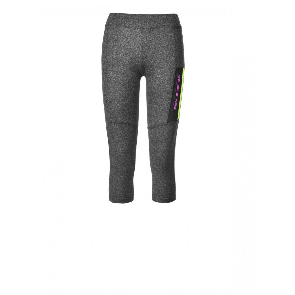 Legíny  DOUBLE RED  Leggins SPORT IS YOUR GANG™ Function Sport Grey/Yellow