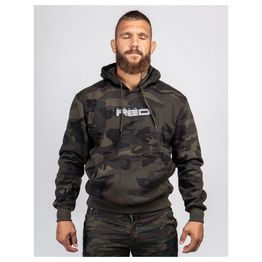 Mikina  DOUBLE RED  Hoodie Soldier Camo Shadows
