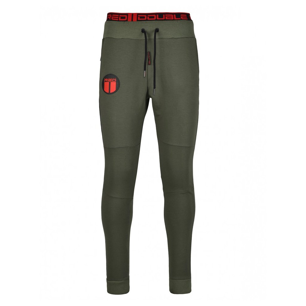 Tepláky  DOUBLE RED  Sweatpants SPORT IS YOUR GANG™ Army Green