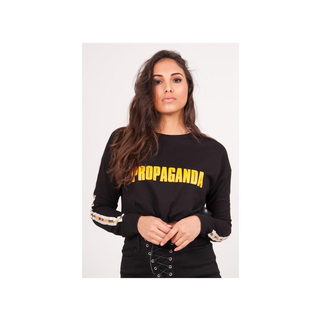 Čierna crop top mikina Sixth June Propaganda Sweatshirt
