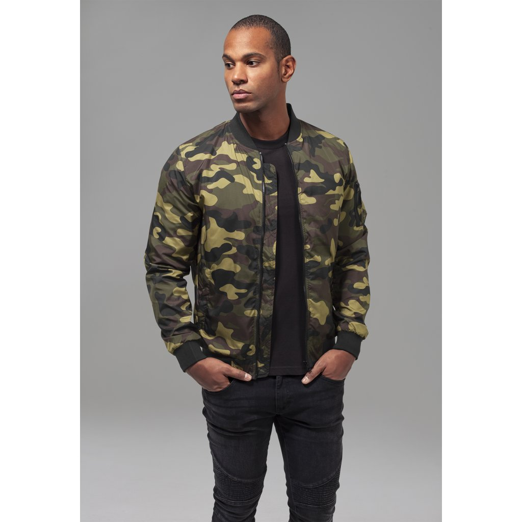 Pánska bombera Light Camo Bomber Jacket woodcamo