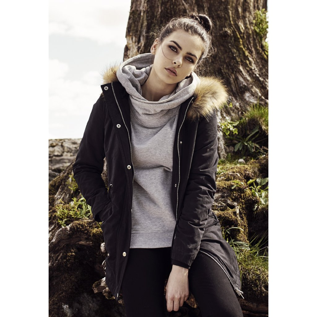 Dámska zimná bunda Ladies Sherpa Lined Peached Parka black