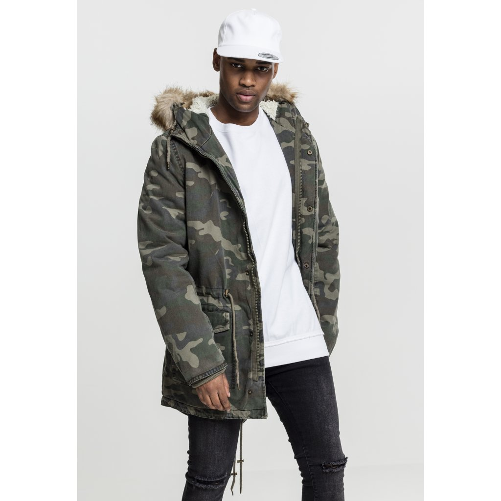 Garment Washed Camo Parka wood camo