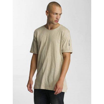 Pánske tričko Who Shot Ya? / T-Shirt Haora in beige