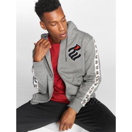 Pánska mikina na zips Rocawear / Zip Hoodie Stripe in grey