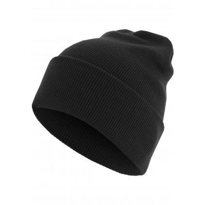 Čiapka Beanie Basic Flap Long Version black one size