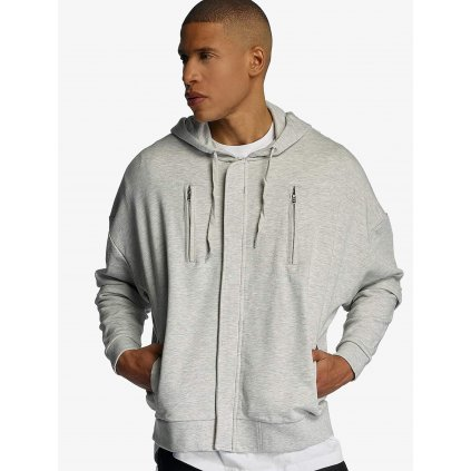 Pánska mikina na zips Bangastic / Zip Hoodie AE463 Oversize in grey