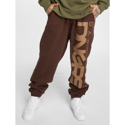 Pánske tepláky Dangerous DNGRS / Sweat Pant Weed in brown