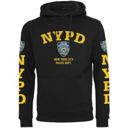 Pánska mikina s kapucňou NYPD Logo Hoody black