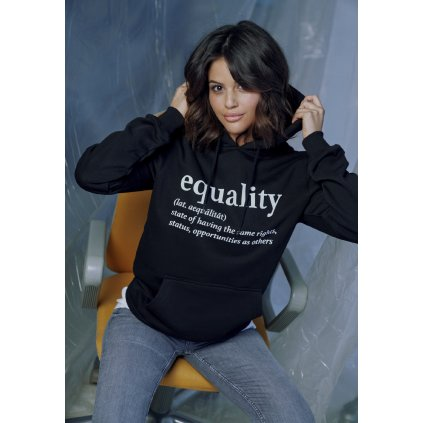 Dámska mikina s kapucňou Ladies Equality Definition Hoody black