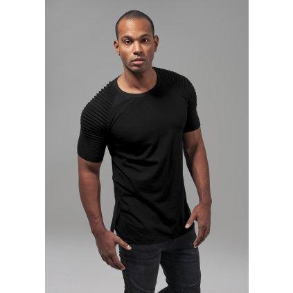 Pánske tričko Pleat Raglan Tee black