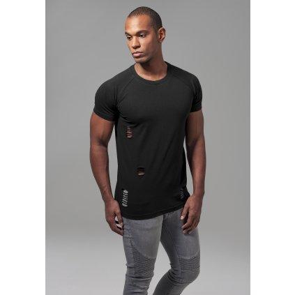 Pánske tričko Ripped Raglan Tee black