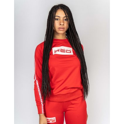 Mikina  DOUBLE RED  Sweatshirt EMINENCE All Logo Red