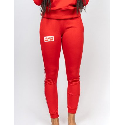 Tepláky  DOUBLE RED  Sweatpants EMINENCE All Logo Red