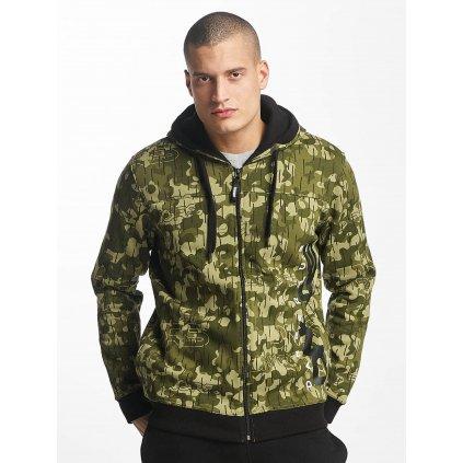 Pánska mikina na zips Dangerous DNGRS / Zip Hoodie Classic in camouflage