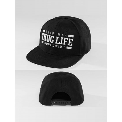 Pánska šiltovka Thug Life / Snapback Cap Worldwide in black