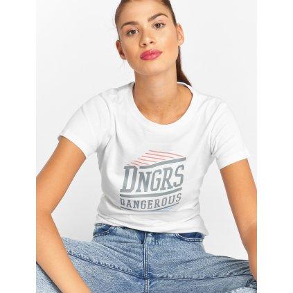 Dámske tričko Dangerous DNGRS / T-Shirt Tackle in white