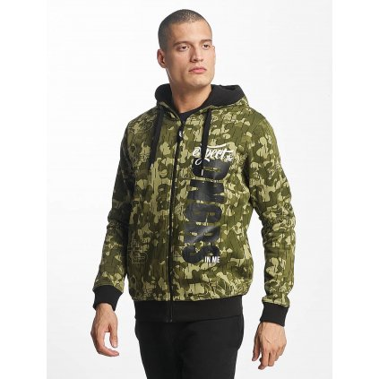 Pánska mikina na zips Dangerous DNGRS / Zip Hoodie Unexpected in camouflage