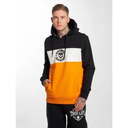 Pánska mikina s kapucňou Thug Life / Hoodie Lion in orange