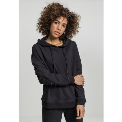 Dámska mikina Ladies Laced-Up Hoody black