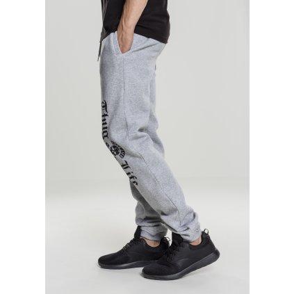 Pánske tepláky Thug Life Old English Sweatpants grey