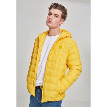 Pánska zimná bunda Basic Bubble Jacket chrome yellow