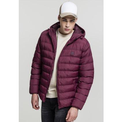 Pánska zimná bunda Basic Bubble Jacket cherry