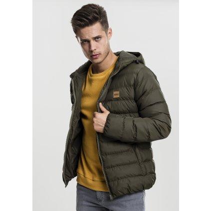 Pánska zimná bunda Basic Bubble Jacket darkolive/black/darkolive