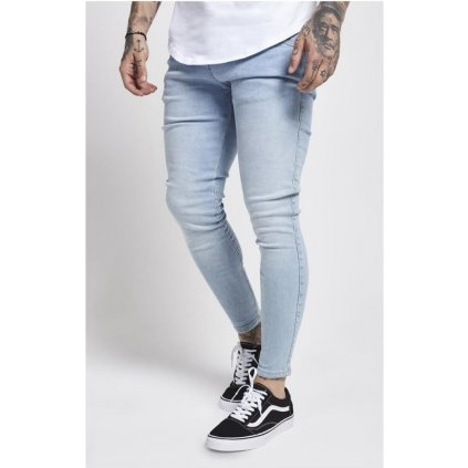 Pánske rifle SIKSILK SKINNY  DENIM