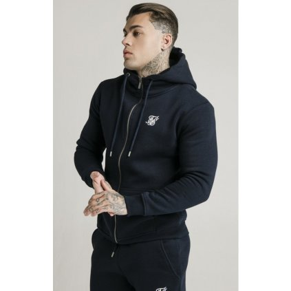 Pánska mikina na zips SIKSILK ZIP THROUGH FUNNEL