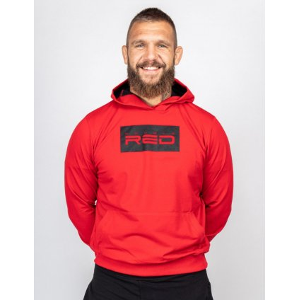 Mikina  DOUBLE RED  RED Hoodie