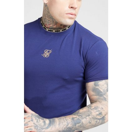 Pánske tričko SIKSILK TAPE COLLAR GYM TEE
