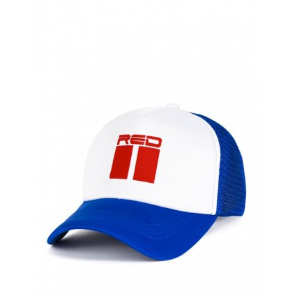 DOUBLE RED 3D Blue/White Cap
