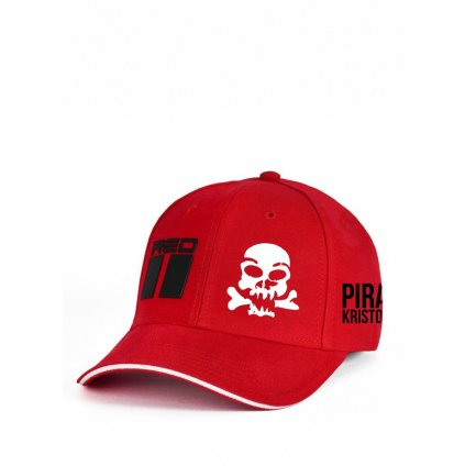 Šiltovka DOUBLE RED Limited Edition Pirát Krištofič Cap Red