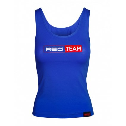 DOUBLE RED  RED TEAM Tank Top Royal Blue