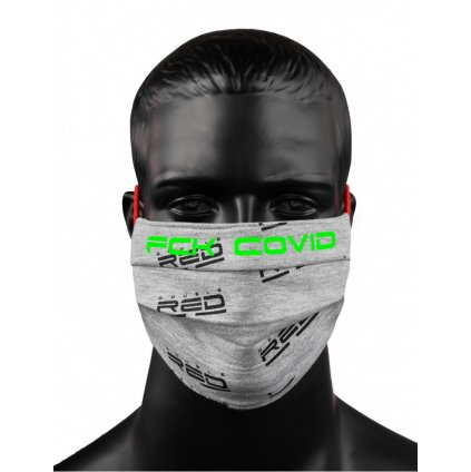 DOUBLE RED  MASK FCK CVD Grey