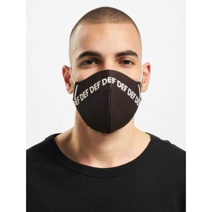 DEF / More Face Mask in black