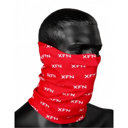 DOUBLE RED  XFN SNOOD Full Logo Red