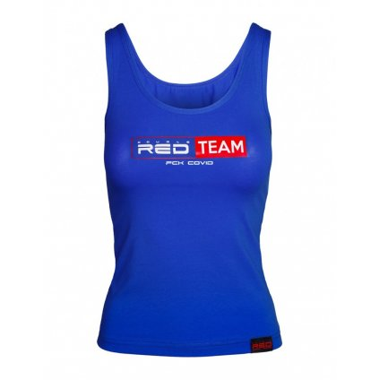 DOUBLE RED  FCK Covid RED TEAM Tank Top Royal Blue