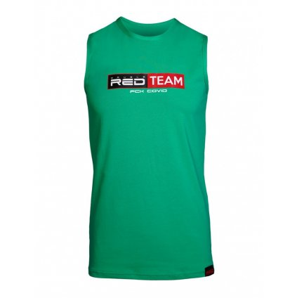 DOUBLE RED  FCK Covid RED TEAM Tank Top Green