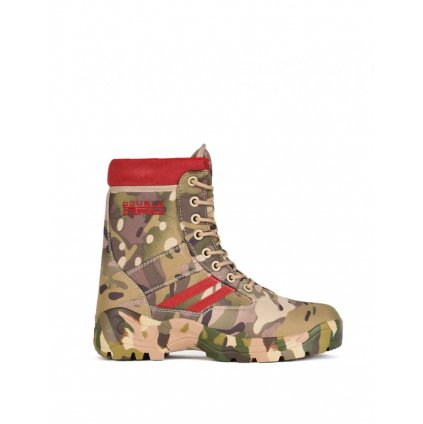 DOUBLE RED  Topánky Multicam Red