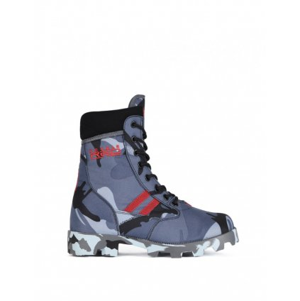 DOUBLE RED  Boots Red Jungle Black/Blue Camo